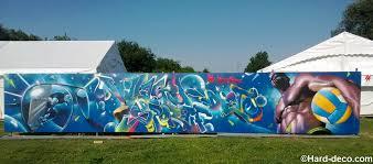 salle de sport torcy murs de jardin terrasses décoration graffiti deco