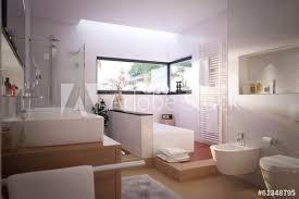 modernes schönes badezimmer modern bathroom with spa area