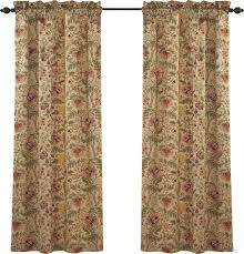 Waverly Fabric Curtain Panels by Waverly Imperial Dress Nature Floral Room Darkening Rod Pocket