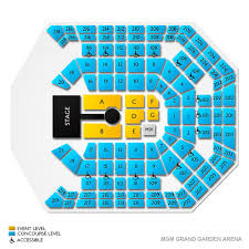 mgm grand garden arena seating guide for las vegas events vivid