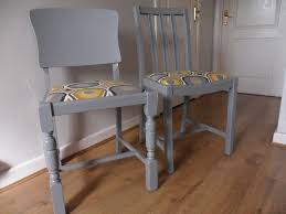 100 Dining Chairs Painted Wood Two En Grey Satin Furniture Paint In