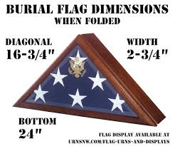 Folded Military Burial Flag Size
