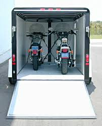 The CVT127SI M 12 X 7 V Nose Motorcycle Trailer Was Designed To Give You Basic Necessities Haul 2 Full Sized Bikes From Place Safely