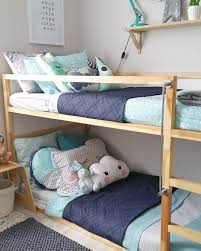 Contemporary Modern Scandinavian Australian Kids Bedroom Styling For Boys Ikea Timber Bunk Bed With Adairs