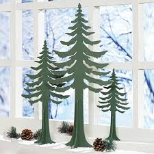 Wooden Cut Out Trees