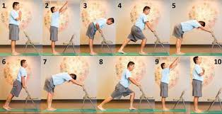 Image Result For Images Sun Salutation Using Chair