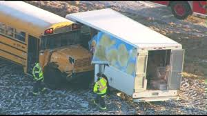 PHOTOS: School Bus, Potato Chip Truck Crash In Cortland ...