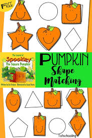 Spookley The Square Pumpkin Writing Activities by Pumpkin Shape Matching Inspired By Spookley The Square Pumpkin