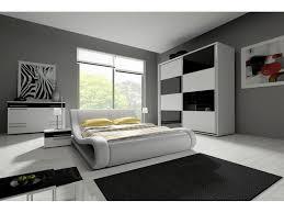 hochglanz komplett schlafzimmer angelo mit designer polsterbett weiß schwarz