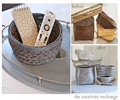 Gray Paint Wash for Revamping Old Baskets