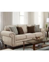 American Furniture Classics Abington Sand Sofa Rustic Styled Beige Off White