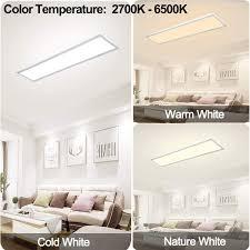 dimmbar led deckenleuchte panel 120x30 cm mit fernbedienung 40w deckenpanel le mit starker leuchtkraft licht 2700k 6500k warmweiß