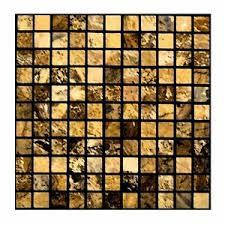 details zu mosaik gold fliesenaufkleber fliesensticker aufkleber sticker badezimmer bad