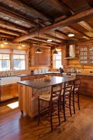 Log Cabin Kitchen Lighting Ideas by Or Better Yet A Kitchen Like This I Like The Contrast Of The Log