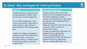 Business Travel Safety Legal Caution For Providers