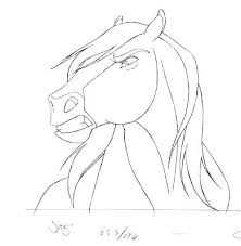 Spirit Stallion Of The Cimarron Rain Coloring Pages Nun N 2 U 1 Stallio