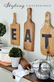 Kitchen Wall Decor Ideas Wood Cutting Board Eat Art 2018