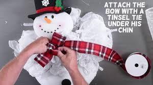 Frosty Snowman Christmas Tree by Frosty Snowman Wreath Tutorial Youtube