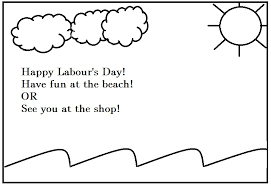 Happy Labor Day Beach Coloring Pages