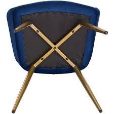 esszimmerstuhl samt blau goldene beine arbd möbeldiscount