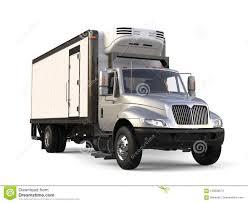 Silver Refrigerator Trailer Truck - Beauty Shot Stock Illustration ...