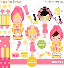 70 OFF SALE Spa Girl Clipart Party By PremiumClipart