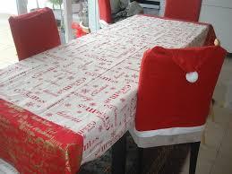 coudre nappe noel avec un peu de couture table noël et chaise 1