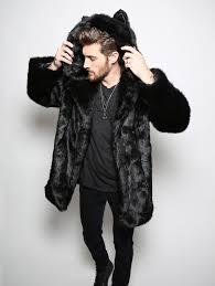 spirithoods official website black panther faux fur coat