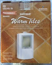 emerson easy heat warm tiles programmable floor thermostat fgs