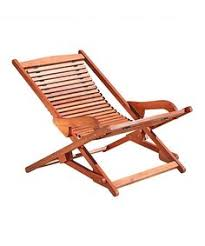 serenity teak steamer chair with cushion green fully assembled