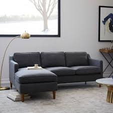 West Elm Rochester Sofa by Hamilton Leather Loveseat 56