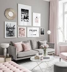 moderne bilderwand schwarzweiße poster rosafarbene töne