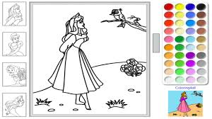 Bold Design Disney Princess Coloring Pages Games Page Painting Face Sofia Aurora