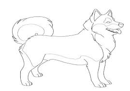 Husky Coloring Pages Colouring Realistic