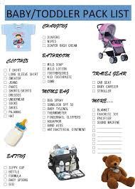 Baby Toddler Printable Pack List