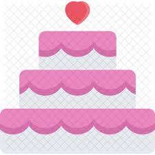 Wedding Cake Couple Love Marriage Relationship Valentines Day Icon
