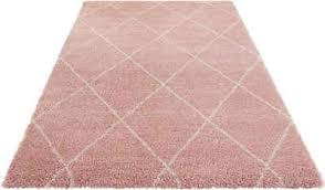 hochflor teppich leonique rechteckig höhe 35 mm rauten design weiche haptik wohnzimmer