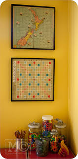 Mount Old Board Games On The Wall As Playroom Decor Plus
