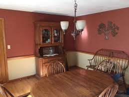 Captivating Dining Room Paint Colors With Chair Rail For Oak