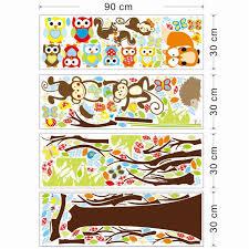 Tree Wall Decor Ebay by Jungle Animals Tree Vinyl Wall Stickers Kids Bedroom Wallpaper