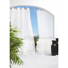 Sheer Curtain Panels With Grommets by Solid Indoor Outdoor Grommet Top Sheer Curtain Panel Target