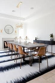 Extra Long Dining Room Table Leather School House Chairs And Brass Chandelier Emfurn