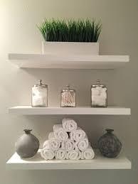bathroom shelves modern clean white and grey added