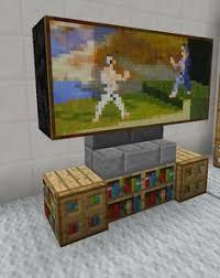 Minecraft Living Room Furniture Ideas by Minecraft Tv Television Entertainment Center Furniture Minecraft