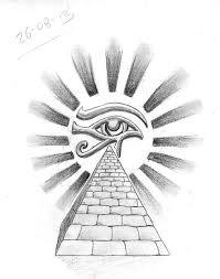Drawn Illuminati Egyptian Pyramid 1