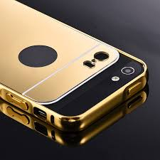 Beworlder For Apple iPhone 5S 5 iPhone5S Gold Color Matel Frame
