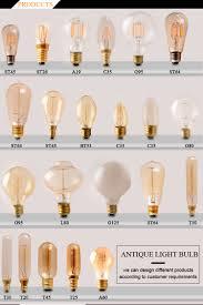 antique color edison vintage tungsten bulb a60 light bulb