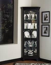 Pulaski Glass Panel Display Cabinet by Amazon Com Pulaski Corner Curio 27 By 15 By 74 Inch Black