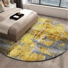 wishstar nordic luxus runde nacht teppich teppiche gold grau