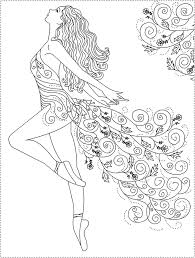 Pretty And Mystical Coloring Page